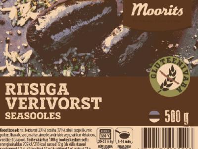 Maks ja Mooritsa gluteenivaba riisiga verivorst