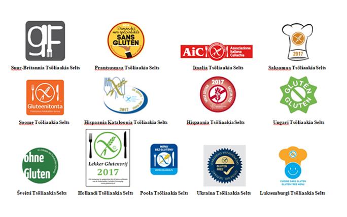 Toitlustustusasutuste tunnustamise süsteemi logod erinevates riikides