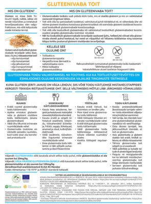 Gluteenivaba toit - teabeleht